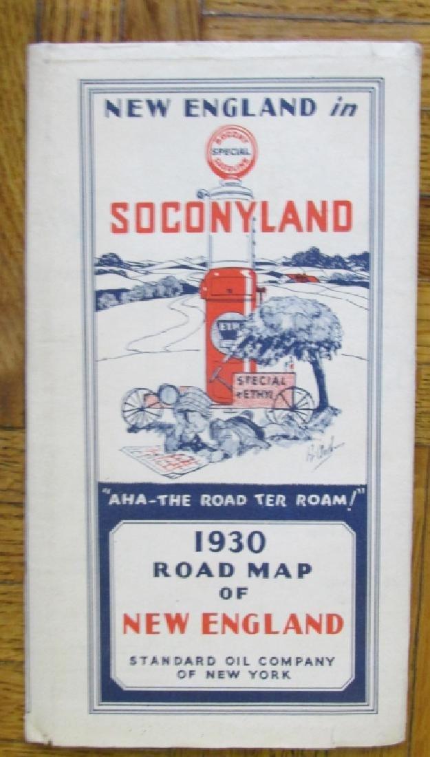 Soconyland 1930 Map of New England