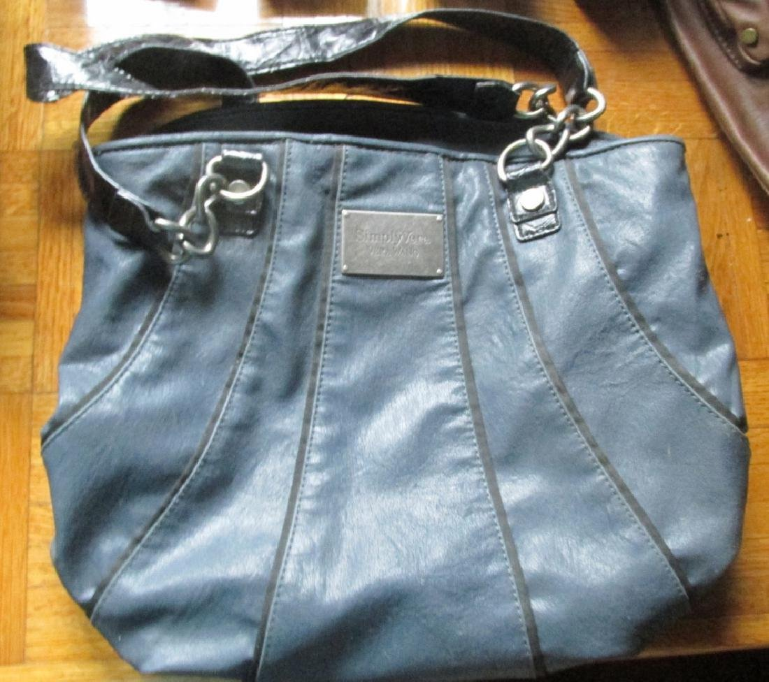 Vintage Vera Wang Leather Handbag