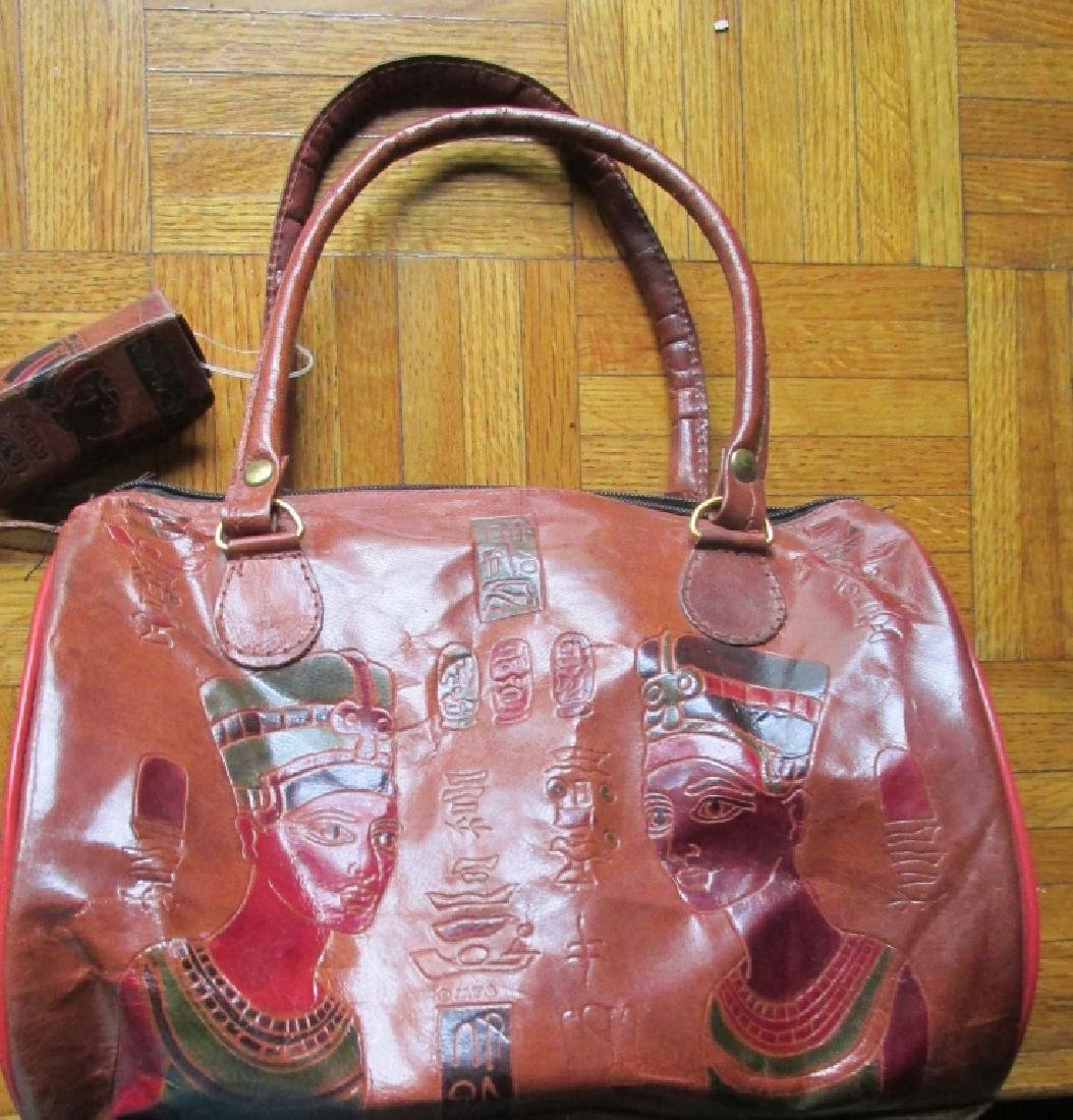 Emily Ann of Boca Raton Egyptian Leather Handbag - 4