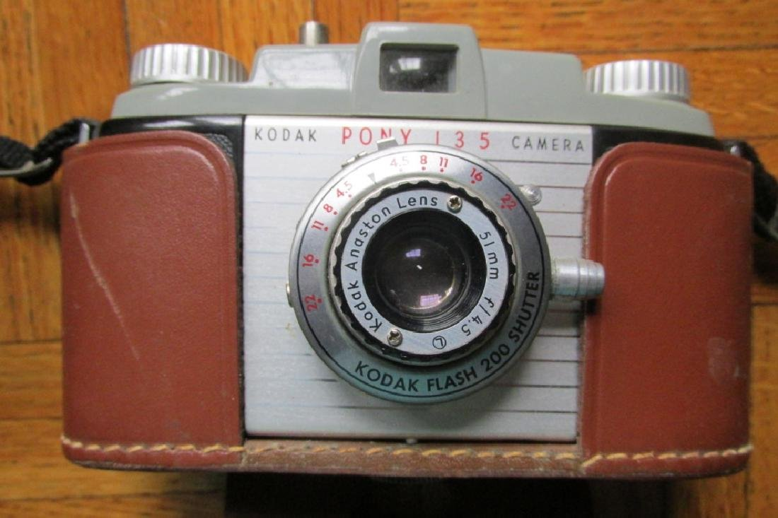 Kodak Pony 135 Camera with Leather Case
