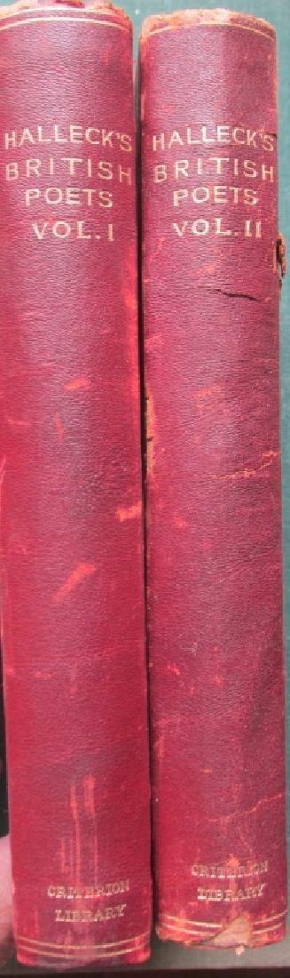 Halleck's British Poets - Leather Bindings