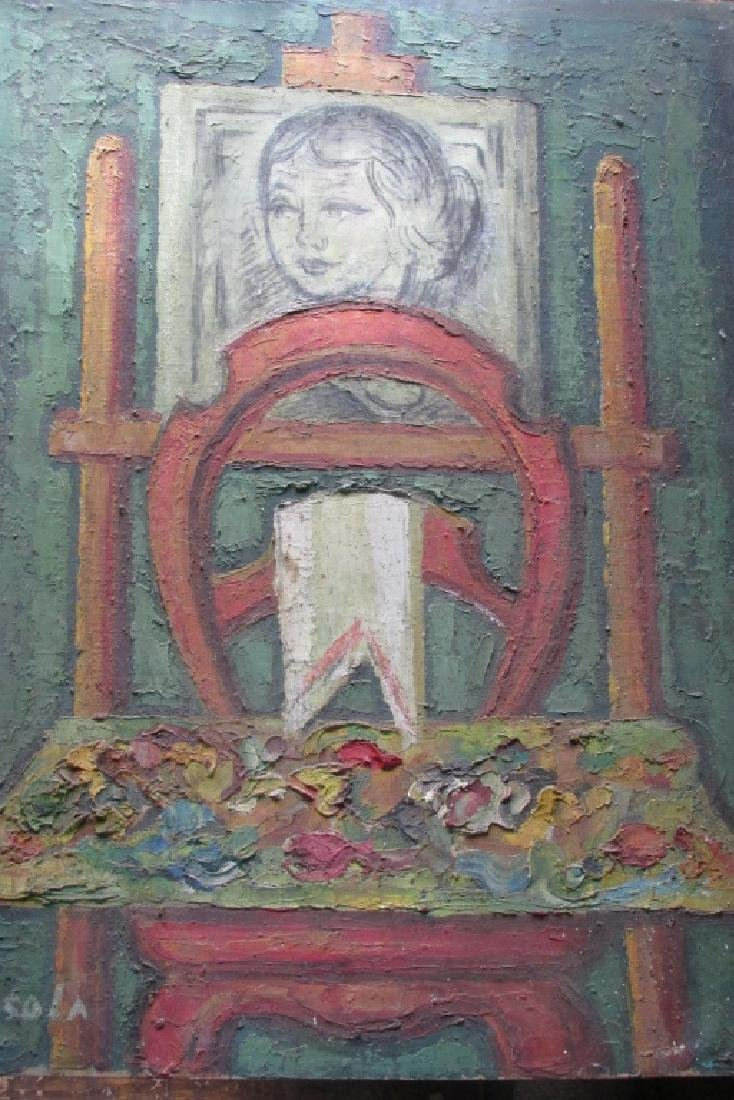 Painting of a Girl on an Easel - Casola
