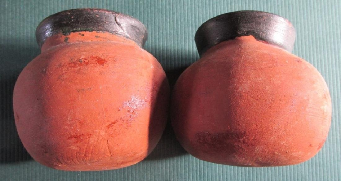 Two Clay Pottery Jars - Origin Unknown