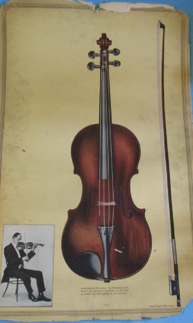 Victor Records Poster Violin