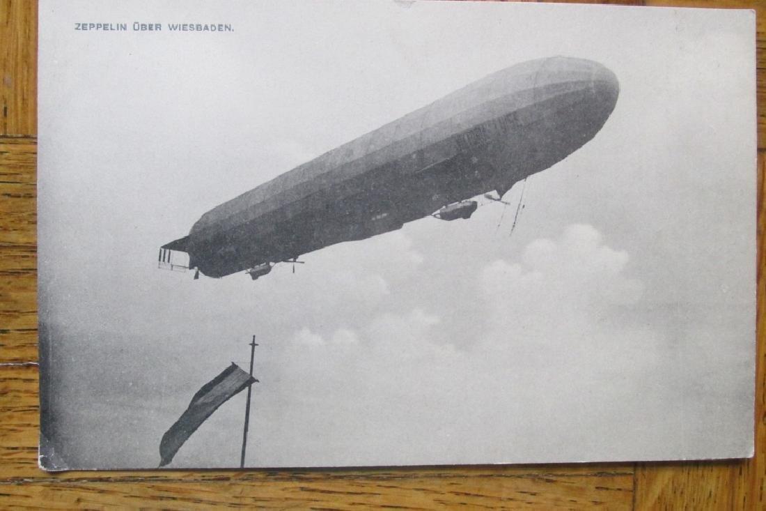 Zeppelin Uber Wiesbaden Postcard