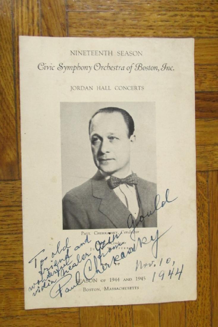 Paul Cherkassky ~  Boston Symphony Orchestra