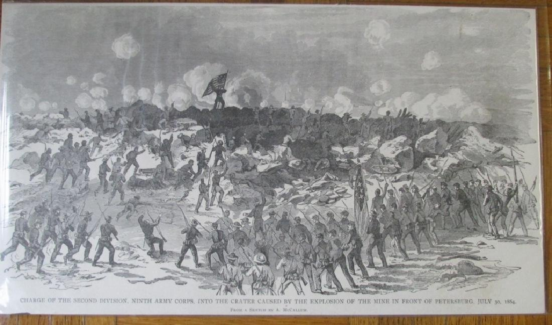 Explosion of Mine Petersburg July 1864 - Civil War