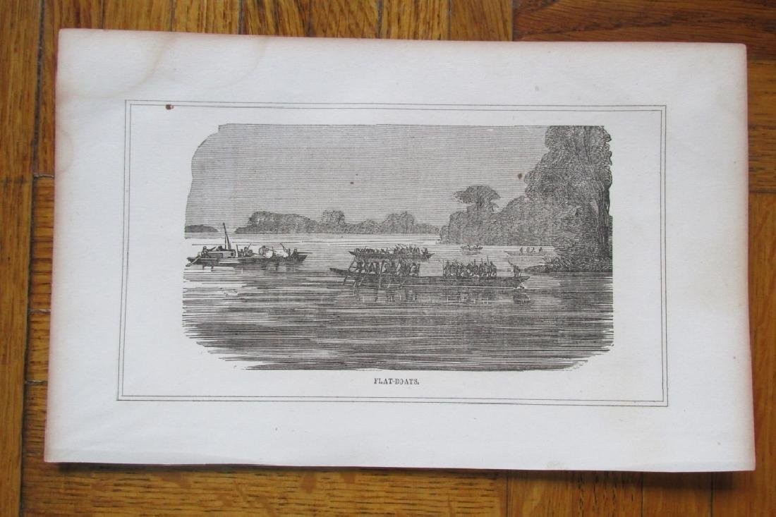 Early American View of New Orleans & Flatboats