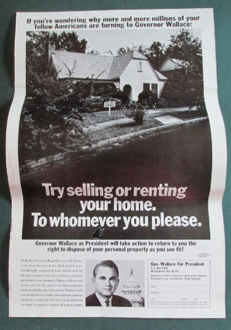 George Wallace Segregated Housing Poster 1968