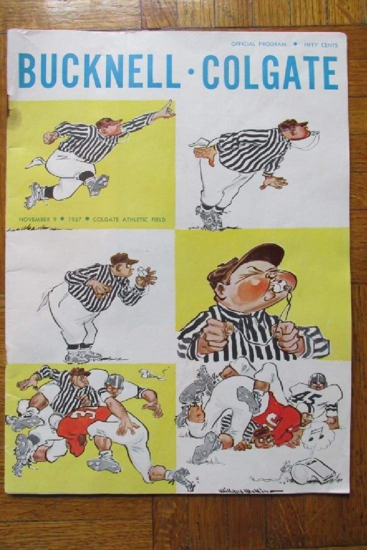 Bucknell Colgate Football Program 1957