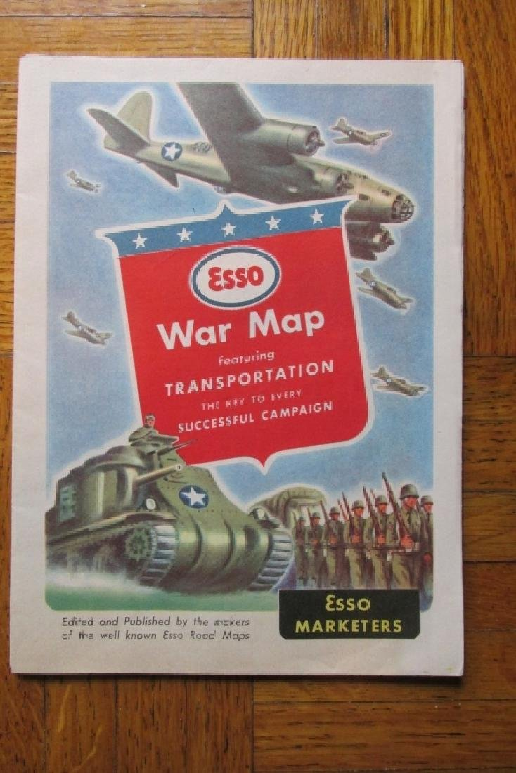 ESSO War Map ~ World War II