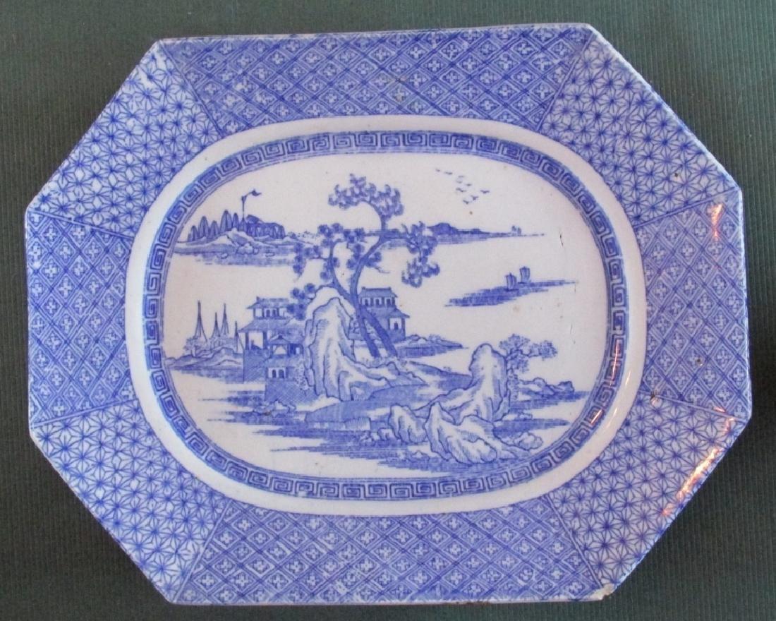Japanese Blue & White Octagonal Platter