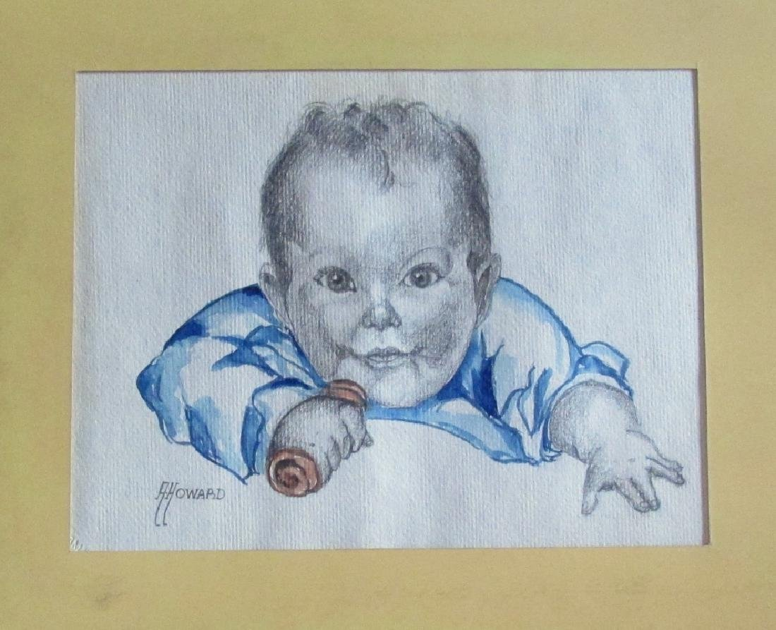 Alan Howard (1923 - 2008)  Illustration of Baby