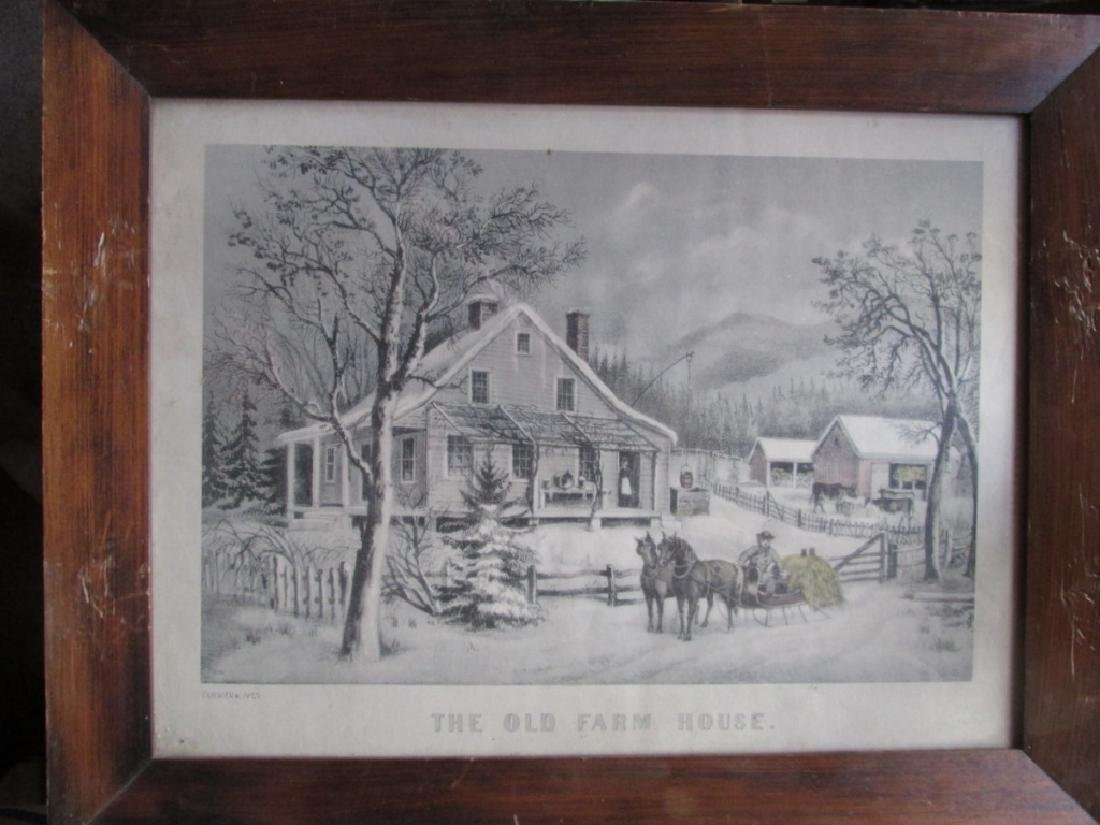 Currier & Ives - The Old Farm House