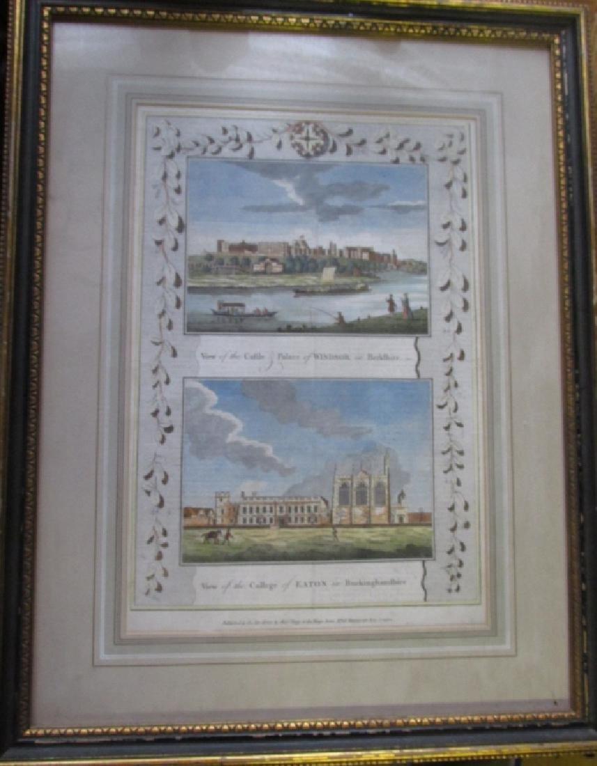 Windsor Castle & Eaton College c1784