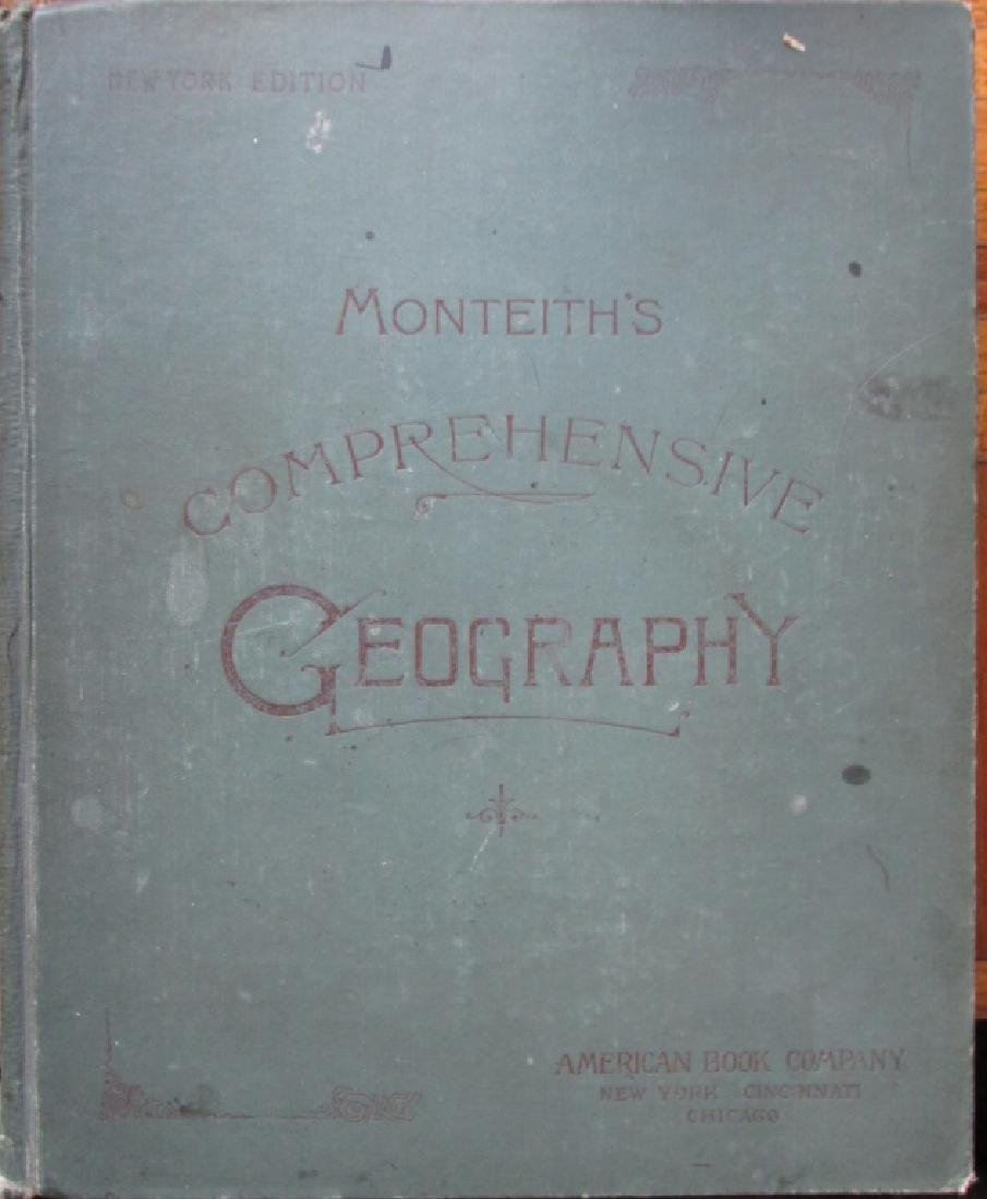 Monteith Geography 19th Century Color Maps