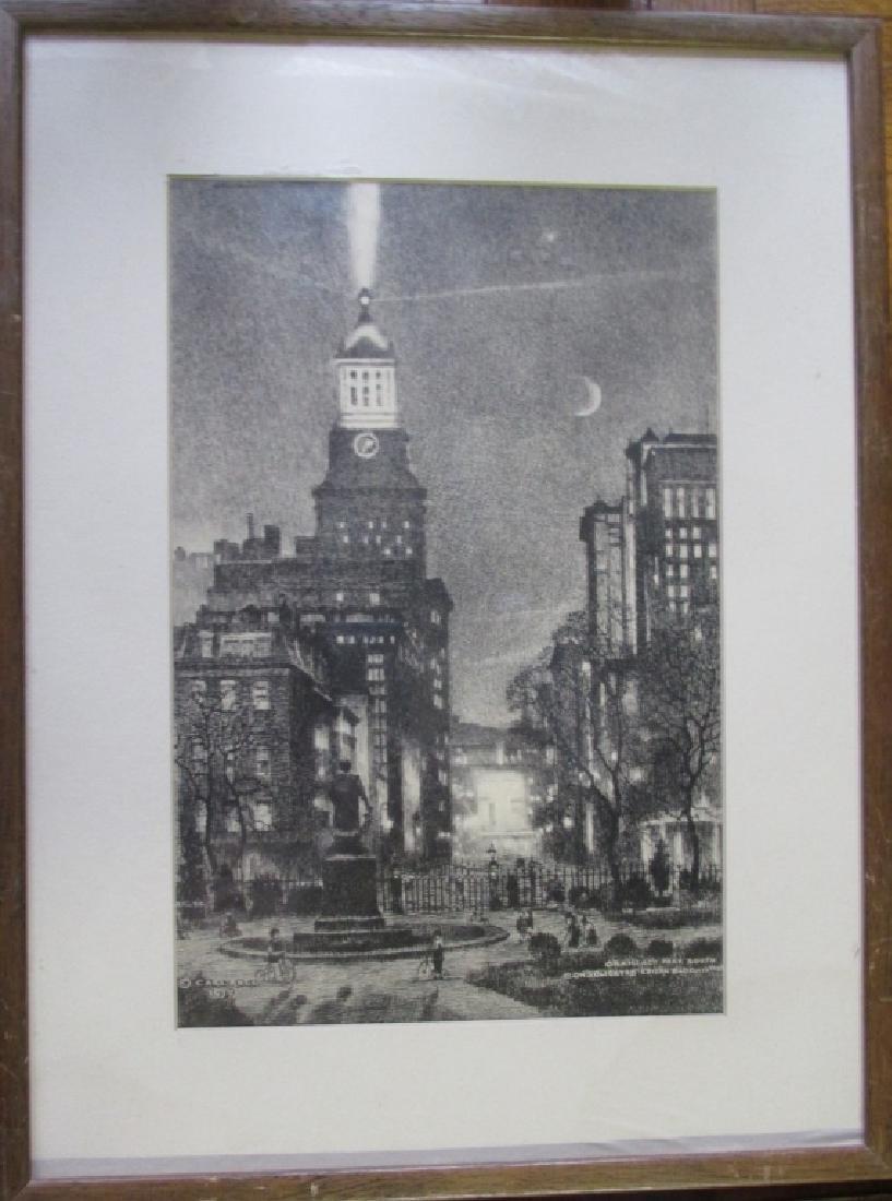Carl Abel Etching New York City