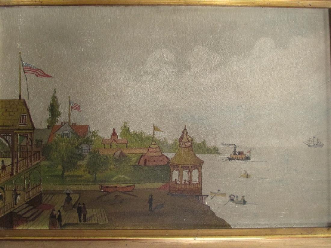 American Folk Art Seashore Painting - 2