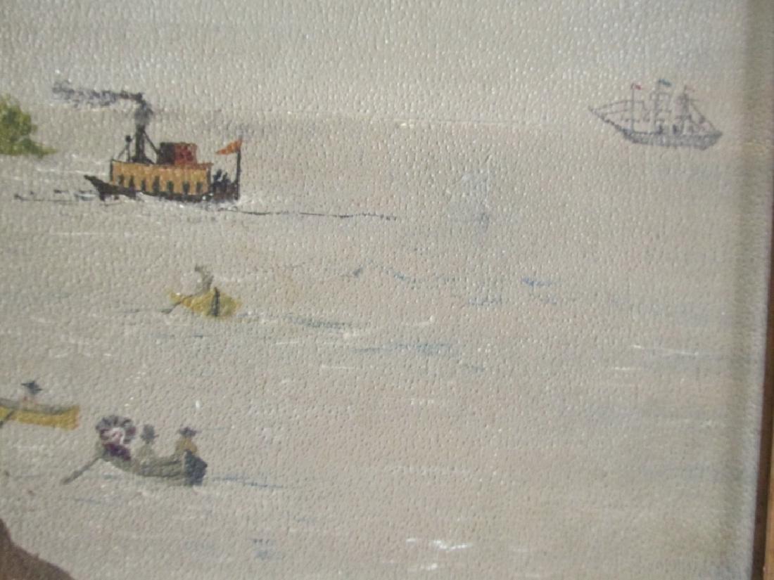 American Folk Art Seashore Painting - 4