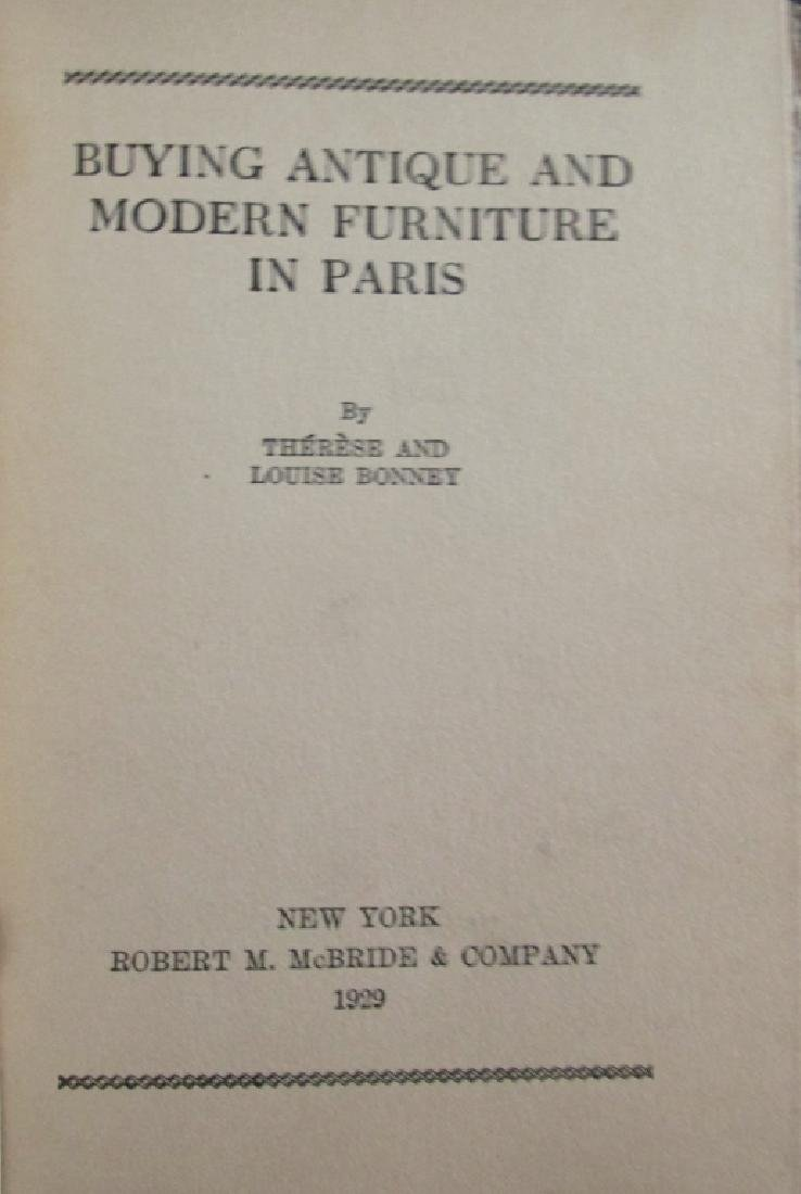 Buying Antique & Modern Furniture in Paris 1929 - 4