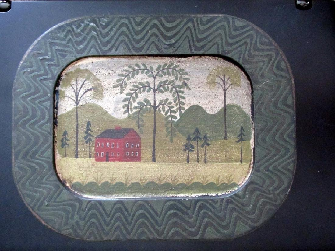 Pennsylvania Folk Art Red House Weepng Willow
