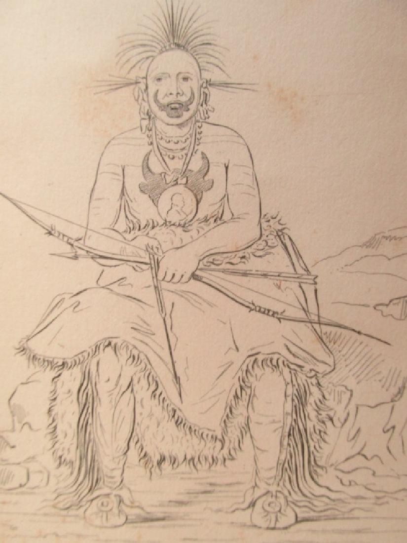 Two Pawnee Warriors - George Catlin