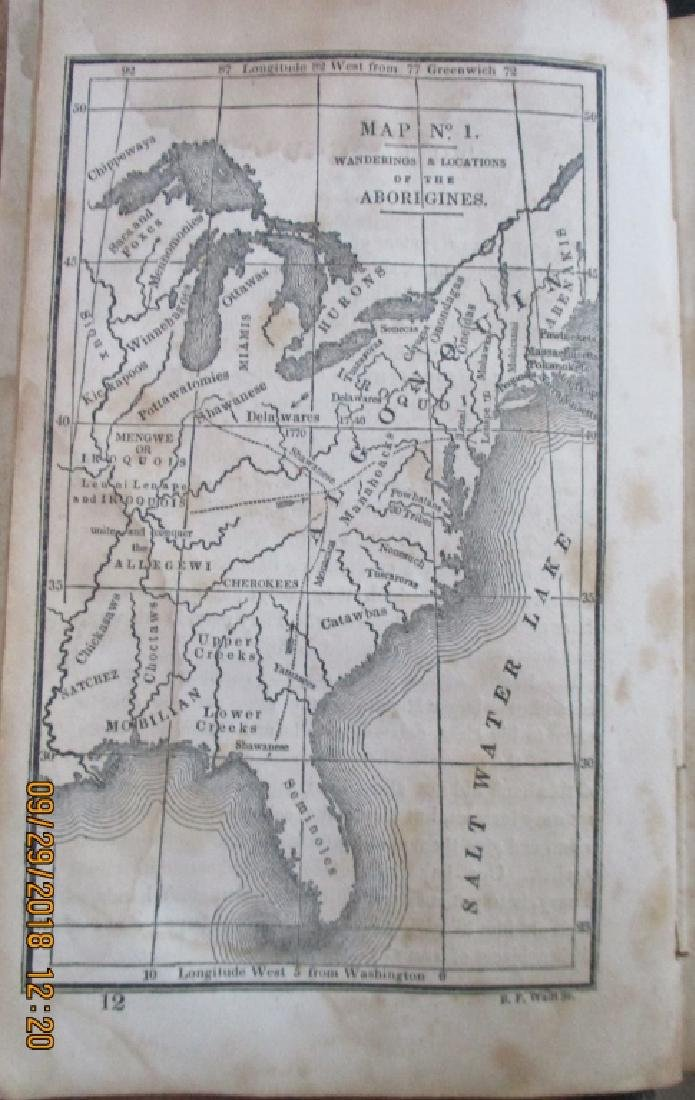 Early American Map of North American Indians