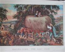 Haying Time - The First Load Currier & Ives