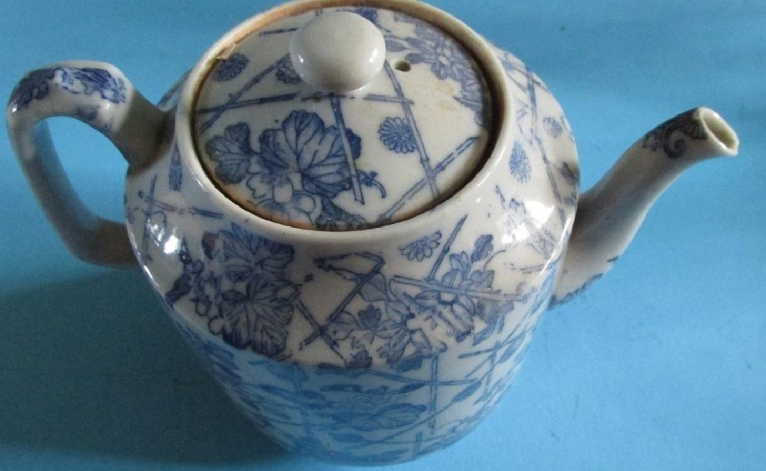 Japanese Blue White Tea Pot