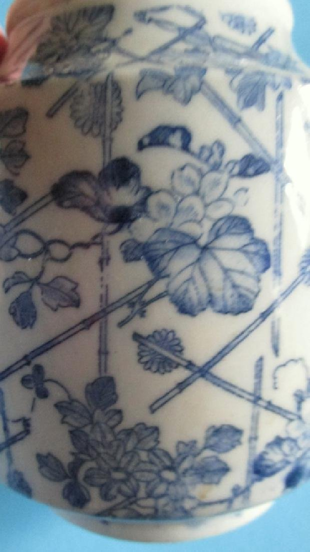 Japanese Blue White Tea Pot - 3