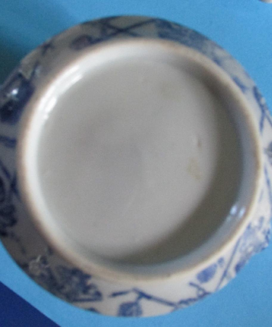 Japanese Blue White Tea Pot - 4