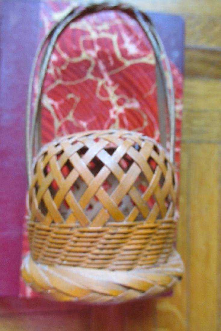 Vintage Unusual Miniature Hand Woven Basket