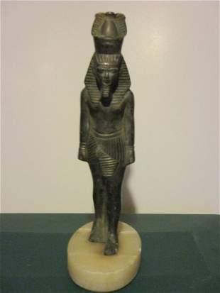 King Tutankhamun Bronze on Marble Base
