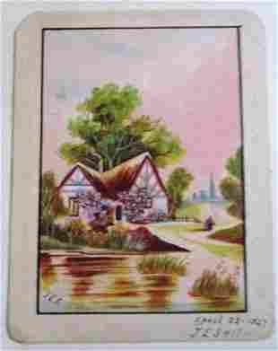 English Cottage Scene