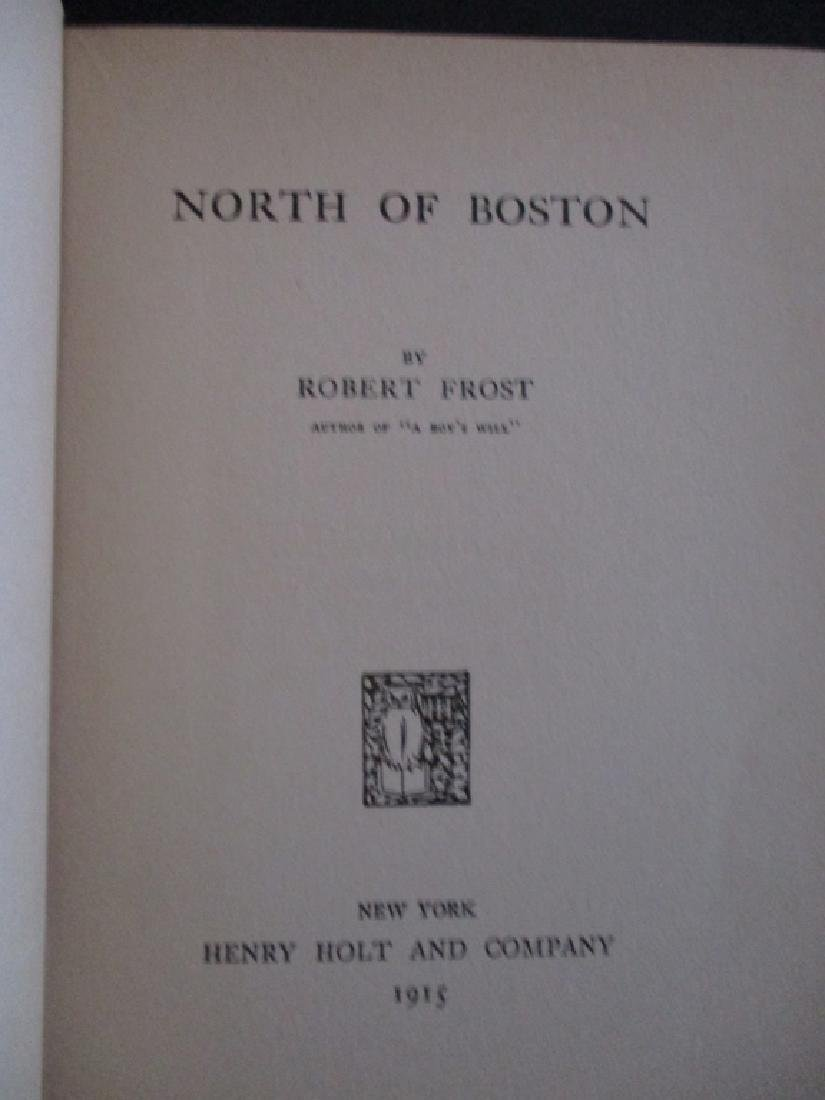 North of Boston - Robert Frost 1st American Ed - 3
