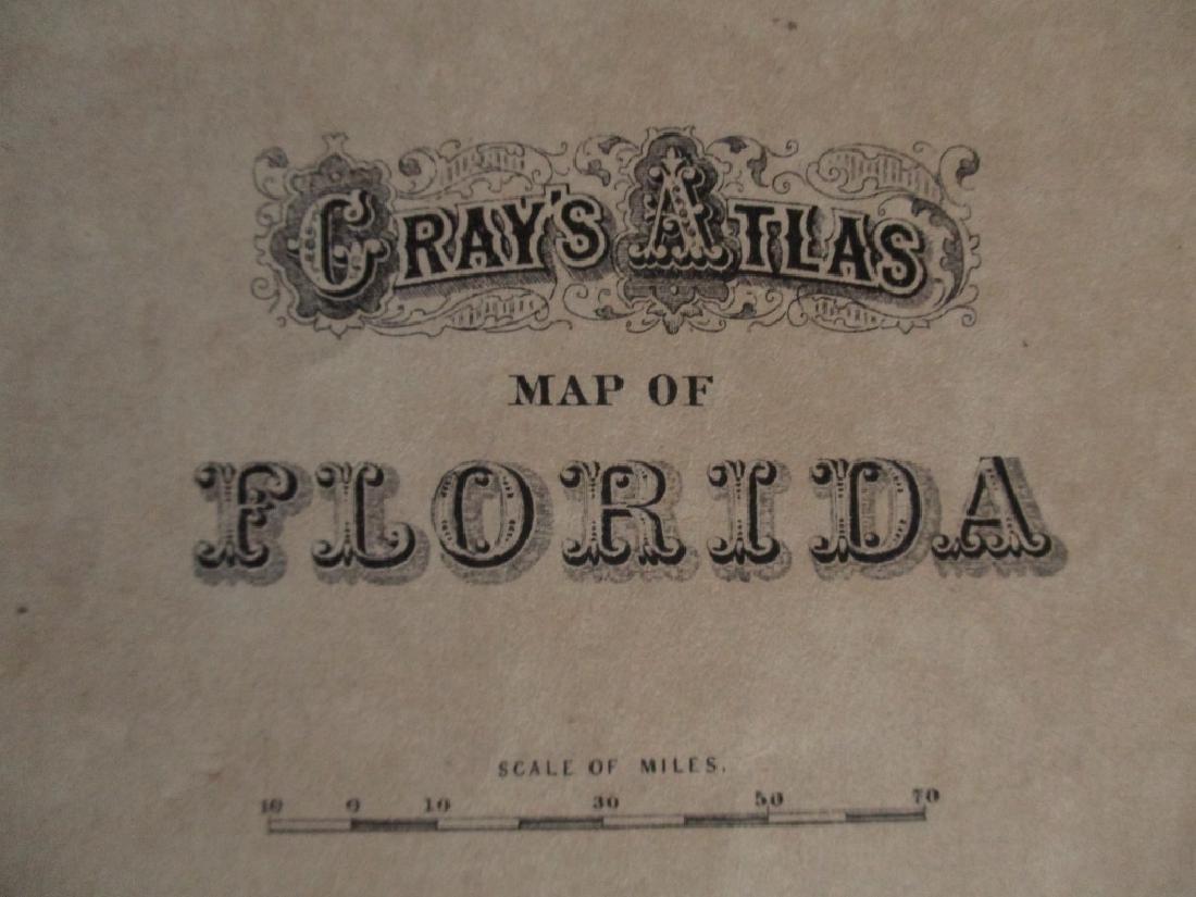 2 Hand Colored Maps - Florida & Alabama - 2