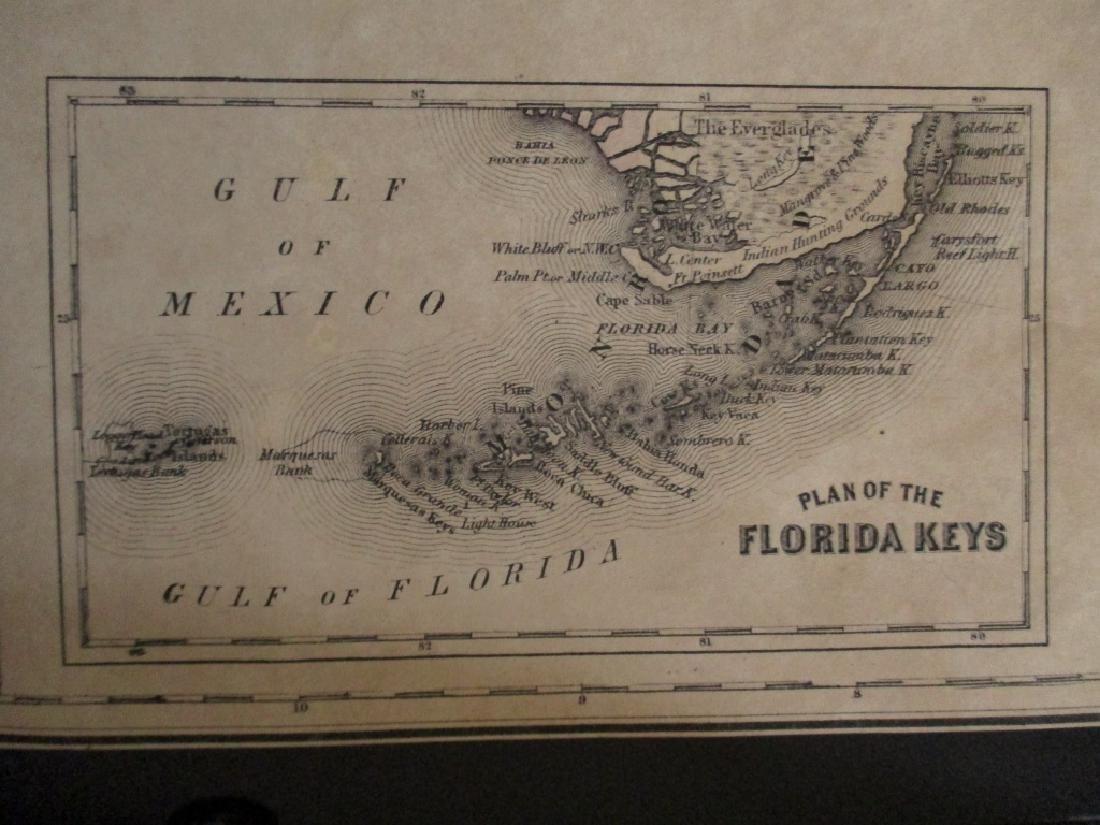 2 Hand Colored Maps - Florida & Alabama - 3