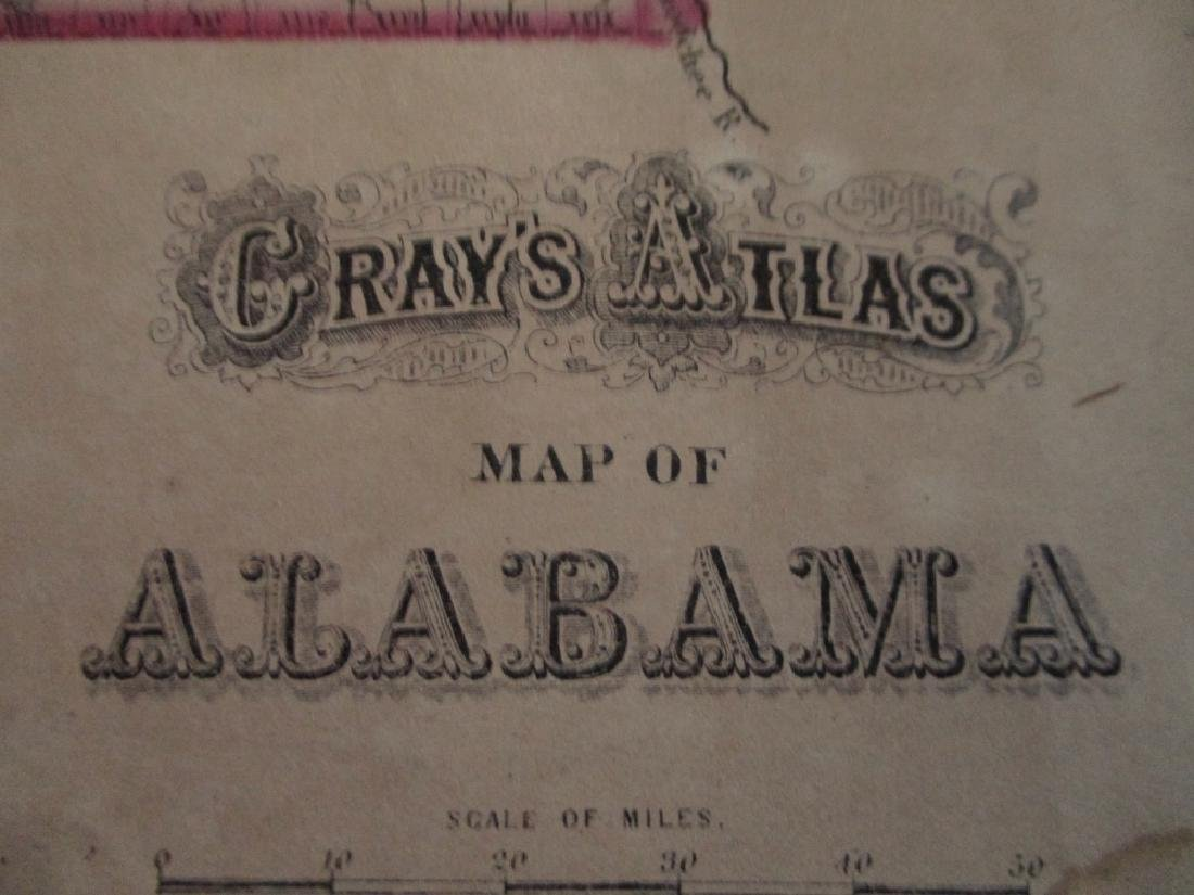 2 Hand Colored Maps - Florida & Alabama - 4