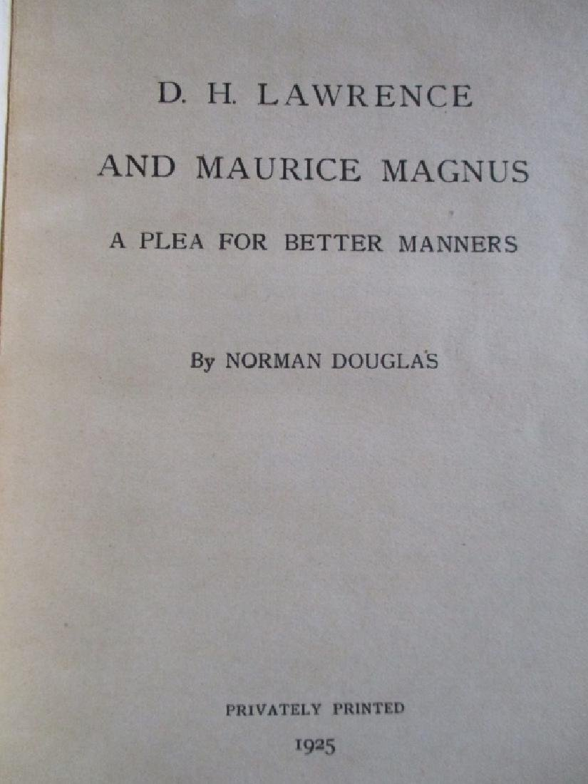 D. H. Lawrence and Maurice Magnus - 2