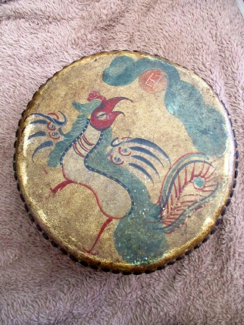Chinese Painted Ceremonial Drum