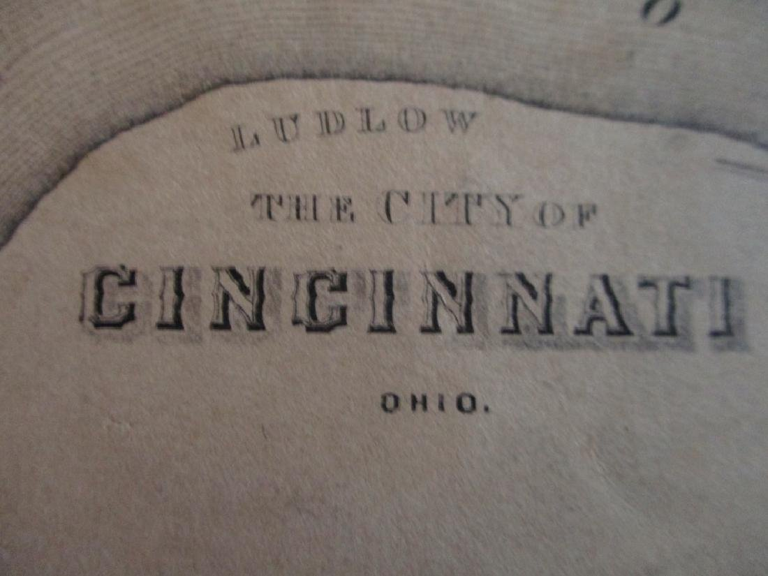 Hand colored Map of Pittsburgh & Cincinnati - 3