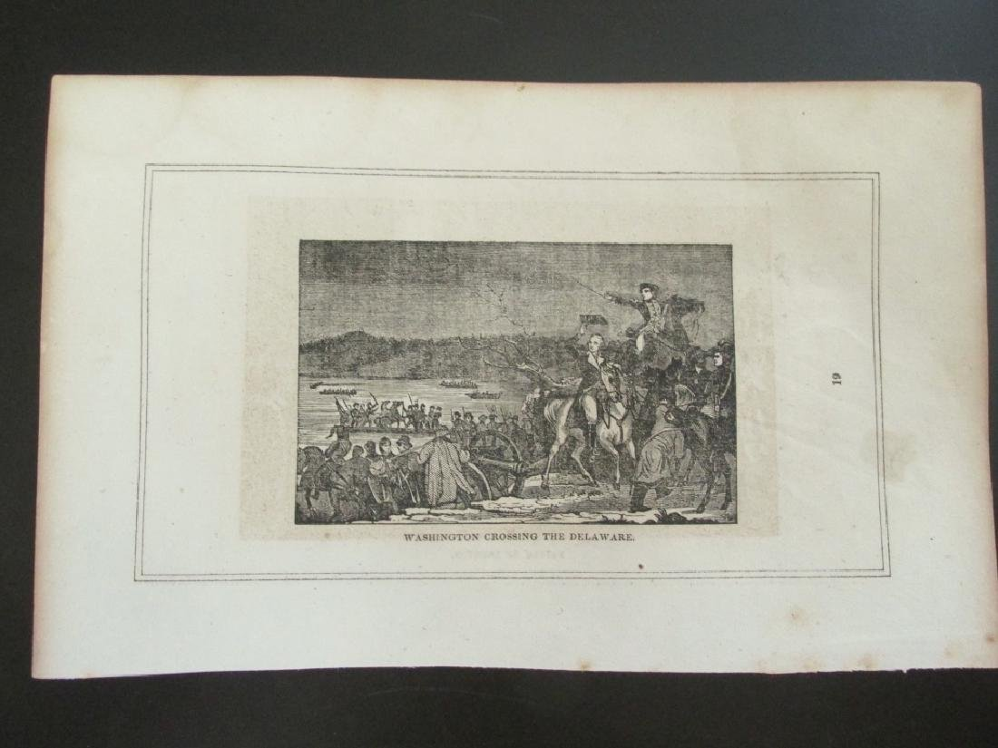 Early Engraving of Washington Crossing Delaware