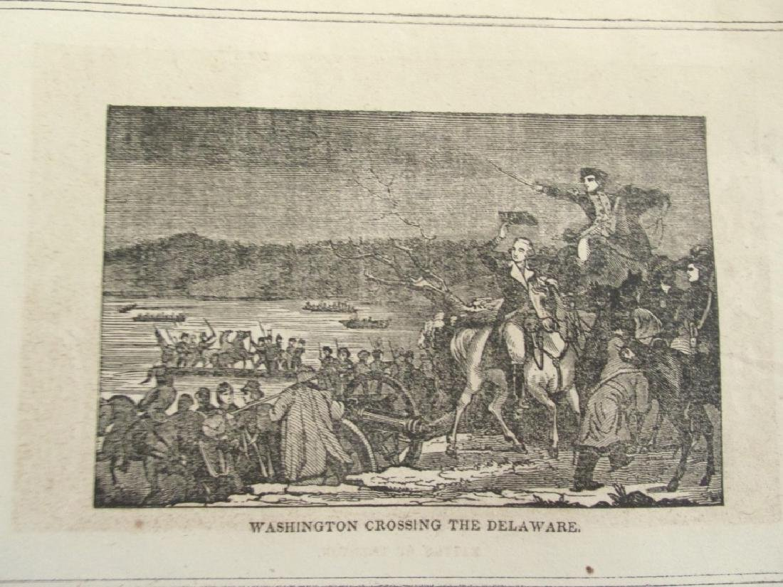 Early Engraving of Washington Crossing Delaware - 2