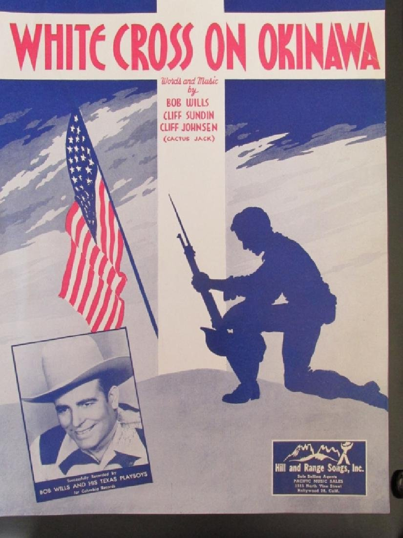 White Cross on Okinawa World War II Sheet Music