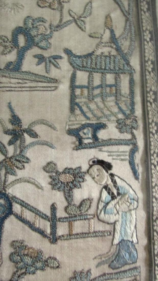 Chinese Qing Embroidered Panel