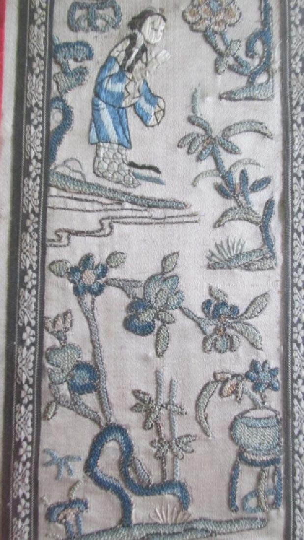 Chinese Qing Embroidered Panel - 2