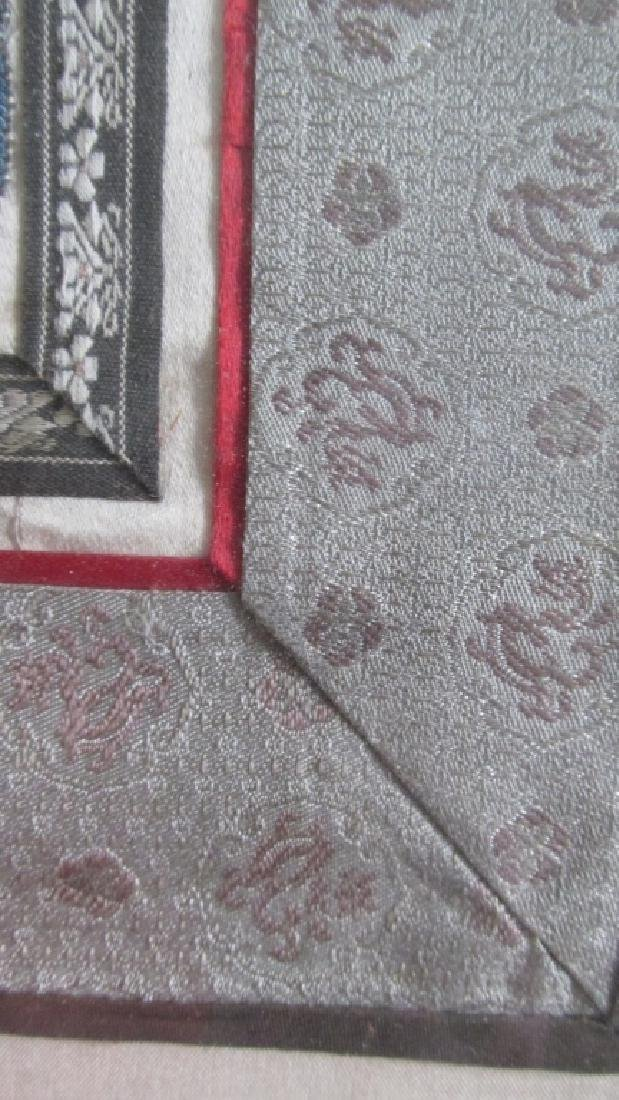 Chinese Qing Embroidered Panel - 4