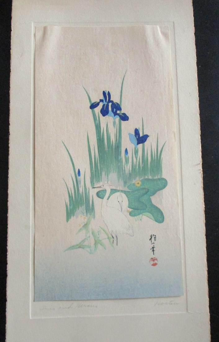 Iris and Herons - Hoitsu