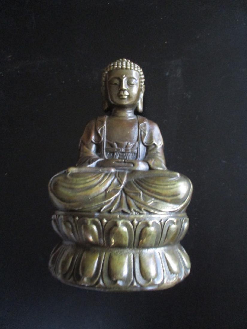 Fine Bronze Signed Buddha Qing Dynasty