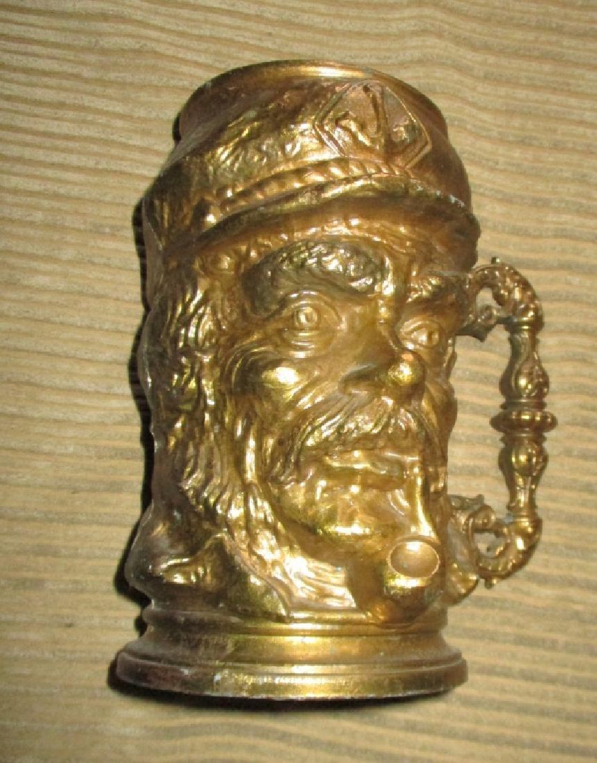 Large Bronze Tankard of Sea Captain